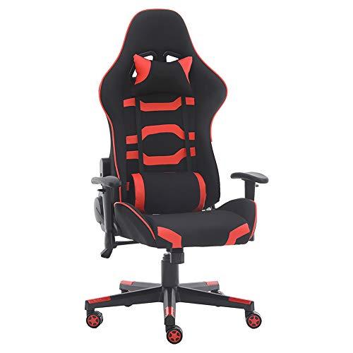 JIASEN - Cómoda silla ergonómica para gaming, silla de juegos para el hogar, silla elevable, giratoria y tumbada, silla de oficina Boss con reposacabezas y cojín lumbar.