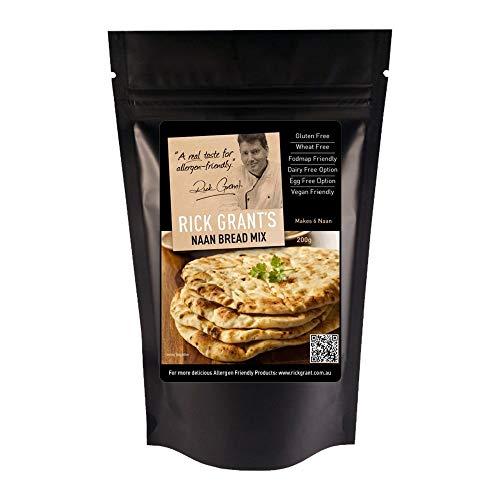 Rick Grant's Gluten Free Naan Bread Mix 200g - Rick Grant's famous Naan Bread - Gluten Free and Fodmap Friendly.