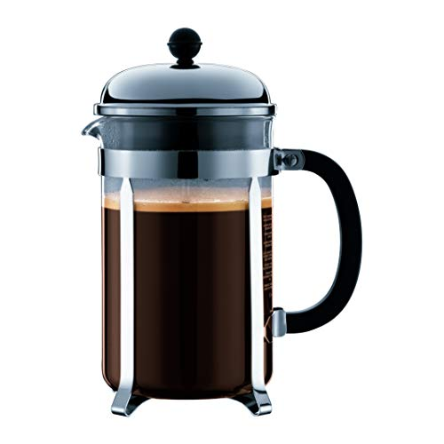 Bodum Chambord French Press Coffee Maker, 51 Ounce, 1.5 Liter, Chrome