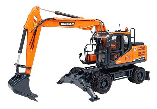 Universal Hobbies UH8108 - Pelleteuse compacte Doosan DX140W - orange - Echelle 1:50