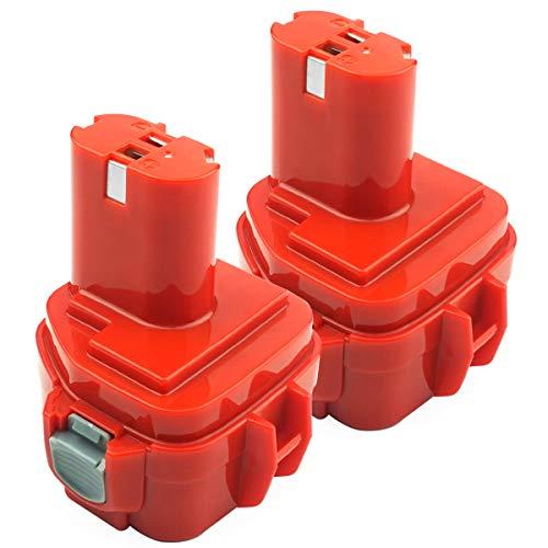 Advtronics 2 Pcs 12V 3.5Ah Ni-MH PA12 Batería para Makita PA12 1220 1222 1233 1200 1234 1235 1235B 1235F 1235A Batería de repuesto 192696-2 192698-8 192598-2 192681-5 192698-A 193138-9 193157-5