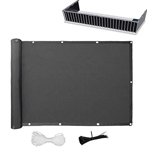 D_HOME Balcony Privacy Screen, HDPE Windbreak Net Fence Sunshade Weatherproof With Cable Ties; Rope