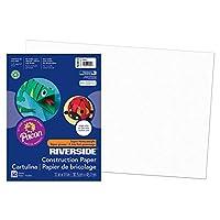 Riverside Construction Paper, 76 lbs., 12 x 18, White, 50 Sheets/Pack (並行輸入品)