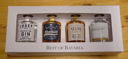 BEST OF BAVARIAN - 4 Miniaturen von Lantenhammer + Slyrs 43% 4x0,05L Miniatur