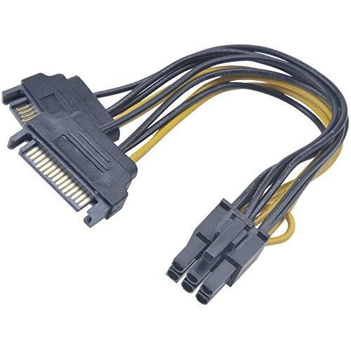 AKasa AK AK-Cbpw13 ' 15 ' Adapter von SATA bis Pol PCIe, Schwarz