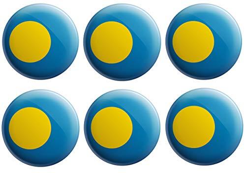 Anstecknadel mit Palau-Flagge – Partytütenfüller – Veranstaltungen – Feiern – Sammler – Dekorationen – Sockenfüller (12 Stück)