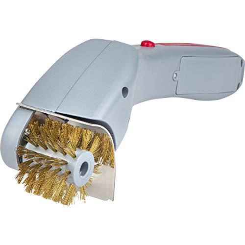 ONVAYA Elektrische Reinigungsbürste | Grillrost | Grillbürste | BBQ Bürste | rotierender Bürstenkopf | Backofenrost | Fritteuse | Messingborsten | Batteriebetrieben