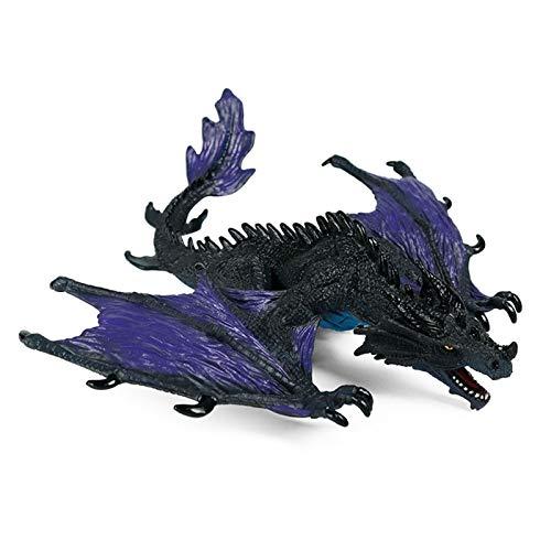 JOKFEICE Giocattoli di dinosauro Realistico Plastica Drago cacciatore notturno Progetto scientifico, giocattoli educativi per l'apprendimento, regalo di compleanno, cake topper per bambini