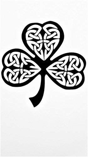 Chase Grace Studio Irish Celtic Knot Shamrock Vinyl Decal Sticker|Black|Cars Trucks Vans SUV Laptops Wall Art|5.25' X 5.25'|CGS635