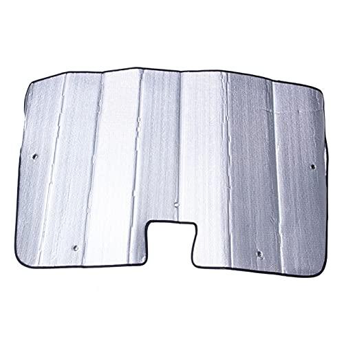 DFMY Ajuste de la Sombra del Parabrisas para Tesla Modelo 3, Reflector de Rayos Plegables Auto Window Sombra de Sol de la Cubierta del Escudo de Visera, Mantiene el vehículo C (Color : Silver)