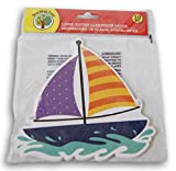Sailboat Shapes with Glitter Highlights -...