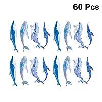 Healifty カラフルな紙ブックマーククジラの形ヴィンテージ手作りブックマーク本タグブックラベルページマーカーリーダー学生役員60ピース