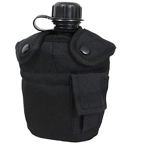 Mil-Tec US Feldflasche mit Becher , Schwarz - schwarz, Einheitsgröße