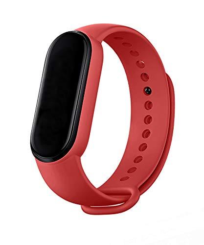 MAKACTUA Armband Kompatible für Xiaomi Mi Band 5 Damen Herren, Silikon Ersatz Fitness Armband und Uhrenarmband Sportarmband und Fitnessband Wristband Armbänder für Xiaomi Mi Band5
