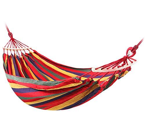 Outdoor Anti-Rollover-Einzel- Doppel-Indoor-Haushalt für Erwachsene Kinder Schlafsaal Schaukelnetz Mesh Canvas Stuhl Hängematte