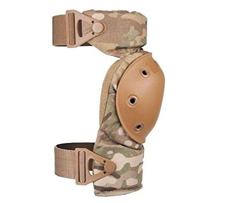 ALTA 52913.16 AltaCONTOUR Knee Protector Pad, MultiCAM Cordura Nylon Fabric, AltaLOK Fastening, Flexible Cap, Round, Coyote