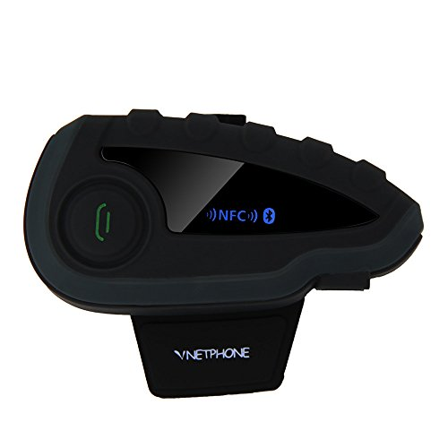 V8 BT Intercom Bluetooth Interphone 1200M Range 6 Riders Motorcycle Helmet Motorcycle Snowmobile Bluetooth Multi Interphone Headsets 6 Riders Intercom Bluetooth Interphone Kits for Helmet Motorcycl