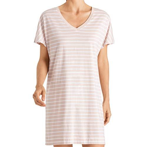 Hanro Damen Laura Bigshirt Nachthemd, Marzipan Stripe, Medium
