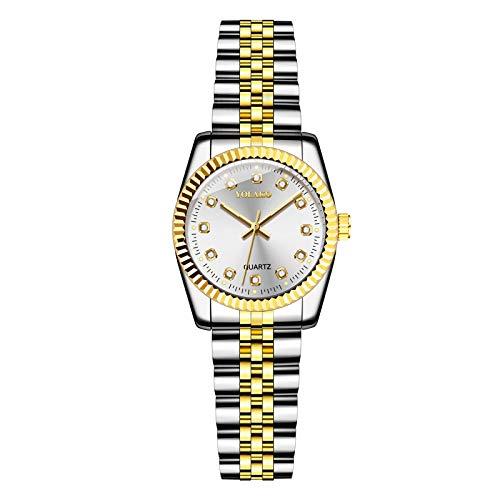 Reloj analógico de cuarzo para mujer, elegante correa de acero inoxidable, para regalo de cumpleaños, regalo de Navidad