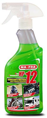 Mafra, HP12, Sgrassatore Universale Multiuso con Formula Attiva, Adatto a Tutte le Superfici, Potente e Sicuro sulle Parti Trattate, Formato 500ml