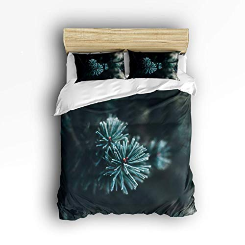 LnimioAOX 3 Piece Bedding Set, Abstract Christmas Coniferous Tree Outdoor 3 pcs Duvet Cover Set Bedspread Daybed for Childrens/Kids/Teens/Adults TWIN/TWIN XL