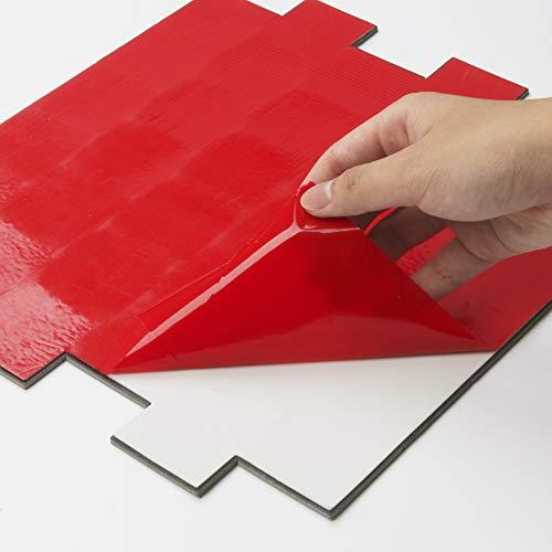 Backsplash Peel and Stick PVC Tile, Stickon Tile for Kitchen Backsplash, Bathroom Vanities, Fireplace Décor, Laundry Table, Stair Decals in Spruce Grey (12