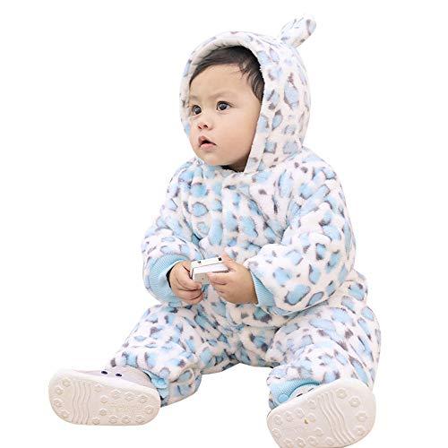 MRULIC MRULIC Schöne Kaninchen Bär Ohren Baby Crawlen Mantel Winter Playsuit Dicker Mantel Warmen Overall Outfit Outwear Mädchen Jungen Baumwollmantel Plüschjacke(B-Blau,55-60CM)
