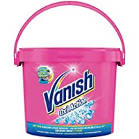 Vanish Crystal White Oxi Action - Quitamanchas para Ropa Blanca y de Color, en Polvo - Pack de 2 x 2.4 kg