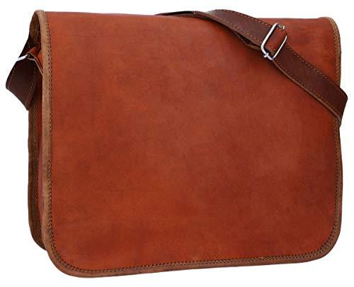 Gusti Umhängetasche Leder - Taylor M 11'' Handtasche Nature Collegetasche Businesstasche Messengerbag Aktentasche Vintage Braun