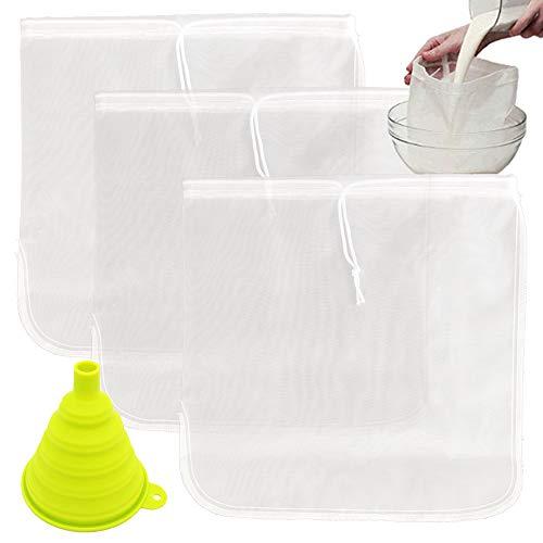TIMGOU 3 unidades de bolsa de leche con un embudo plegable, 30...