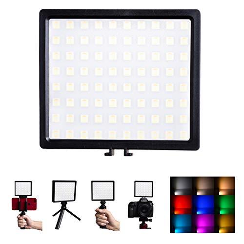 撮影ライトLEDビデオライト-急速充電-撮影照明用 超高演色性 CRI96+ 3200~5600K 12つ特殊モード パッテリー内蔵 USB充電 無段階調整