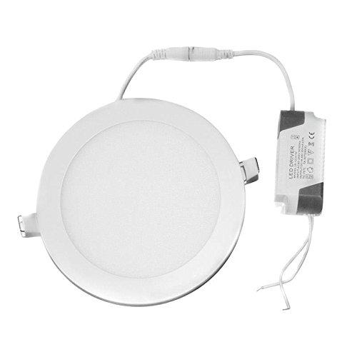 ECD Germany 4-er Pack LED Einbaustrahler 9W - Panel Deckenstrahler ultraslim - 220-240V - SMD 2835 - Ø14.2 cm - warmweiß 3000K - runder Einbauleuchten Spot für Flur, Bad oder Küche