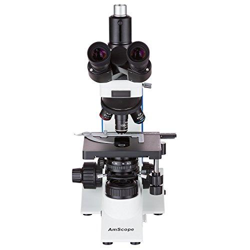AmScope 40X-2500X Plan Infinity Kohler Laboratory Research Microscope + 18MP USB3.0 Camera