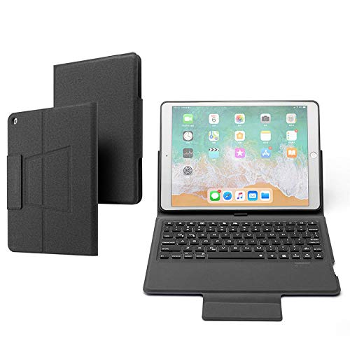 ANBF Multipurpose Keyboard Case For Ipad 10.2 2019 Smart Cover For Ipad 7th A2200 A2198 Wireless Backlit Keyboard Stand (Color : Black, Size : For iPad 10.2 2019)
