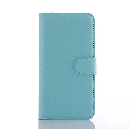 Tasche für Wiko Stairway Hülle, Ycloud PU Ledertasche Flip Cover Wallet Hülle Handyhülle mit Stand Function Credit Card Slots Bookstyle Purse Design blau