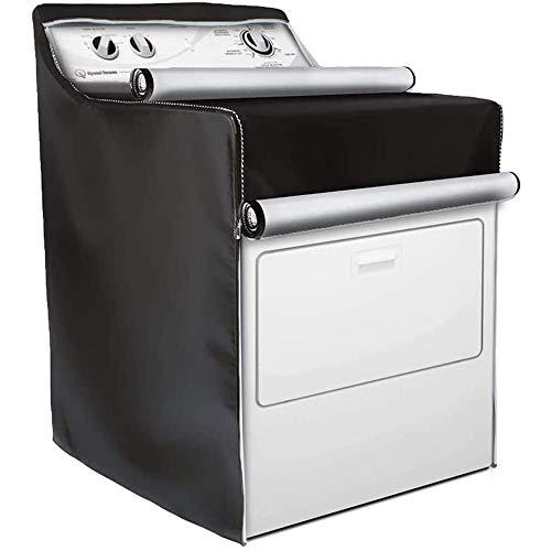 UCARE - Funda impermeable para lavadora y secadora (resistente al polvo, a prueba de sol, para lavadoras/secadoras de carga superior o frontal (negro)