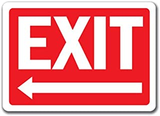 Exit Sign With Left Arrow - 10