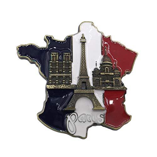 3D Flagge Eiffel Paris Frankreich Kühlschrank Kühlschrankmagnet Touristische Souvenirs Handarbeit Harz Handwerk Magnetischen Aufkleber Küche Dekoration Reise Geschenk
