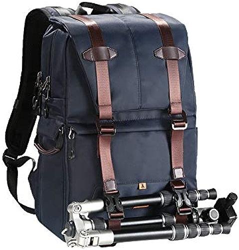Chooseator Sac à Dos pour Ordinateur de Poche, caméra à Double Couche, Cache-Poche de Poche latérale (30  17  44 cm) (Couleur   Bleu)