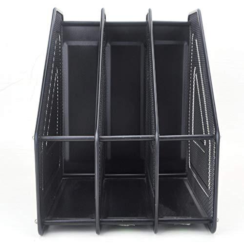 Schreibtisch Organisator/Ordner-Ablagesysteme Metallfeile-Rack Hochwertige Bürobedarf Drei-Säulen-Datensortierungs Storage Rack Desktop Datei Korb Einfache Vertical File Sorter Ablageboxen