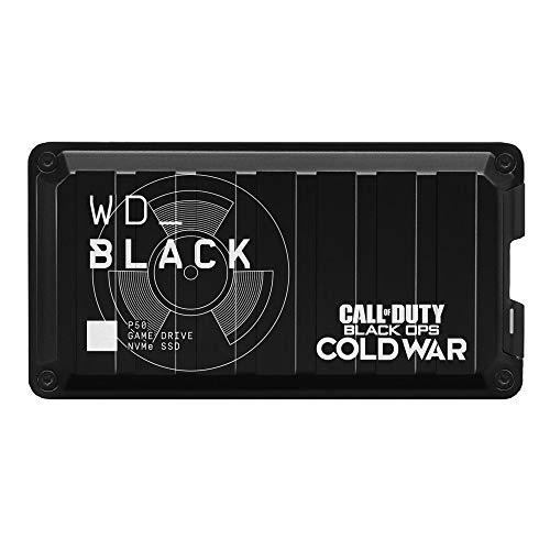 WD_BLACK P50 Game Drive SSD 1 TB Call of Duty Special Edition mobiler Gaming Speicher (SuperSpeed USB 3.2 Gen 2x2, Geschwindigkeiten bis 2000 MB/s) Schwarz