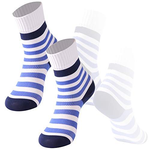 Calcetines 100% impermeables para niños, RANDY SUN Deportes al aire libre calcetines para senderismo, esquí y pesca - Multi color - 4-6 años/Medium
