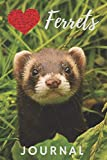 Ferret Journal: cute ferrets gift for animal lovers (blank lined notebook) journal for journaling / ferret notebook / best for writing notes and ideas ... notepad for young kids and women (120 pages)