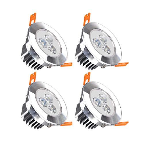 WRMOP 3 W open haak 7,5 cm embedded LED-spot woonkamer slaapkamer plafondlamp rond paneel licht R/20/03/06