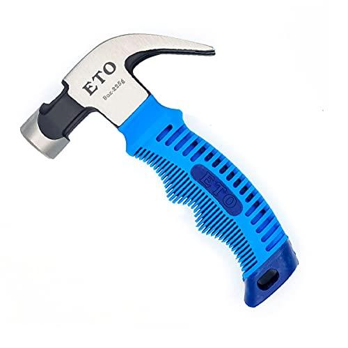 ETO 8 oz Martillo de Garra Taladro Martillo de Ingeniería Mango de Mampostería Martillo de Grava Martillo Pequeño (Azul)