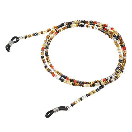 AMOLEY Beaded Eyeglasses Chain Beaded Glasses Cord Anti-slip Glasses Neck Cord Sunglasses Strap Lanyard for Women