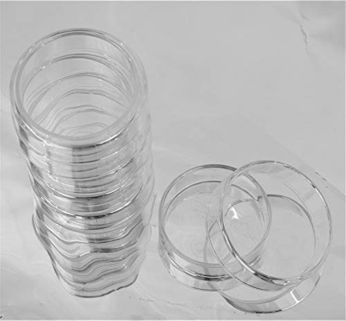 5 Glass Petri Dish 60mm, Tissue Culture Plate, Autoclavable Borosilicate Glass, Pack of 5