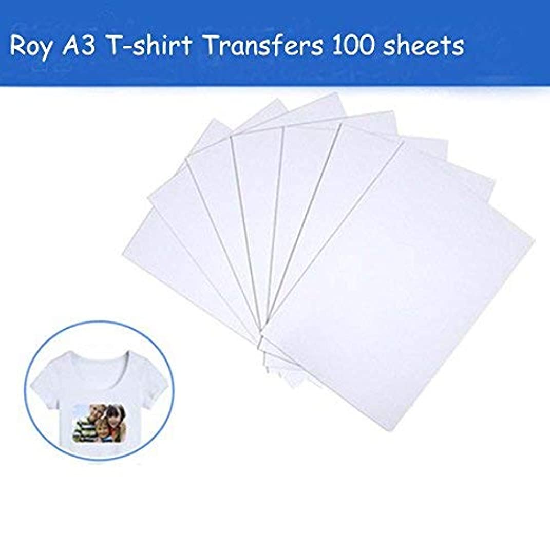 Roy Iron On Transfer Paper 100 Sheets for Dark Color T-Shirt, 17
