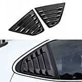 XHQ for Toyota Camry Rear Window Louver Shutter Cover Trims Fit Camry 2021 2020 2019 2018 Auto Car Side Window Louvers Air Vent Scoop Shades Cover Accessories Decoration 2PCS(Carbon Fibre)