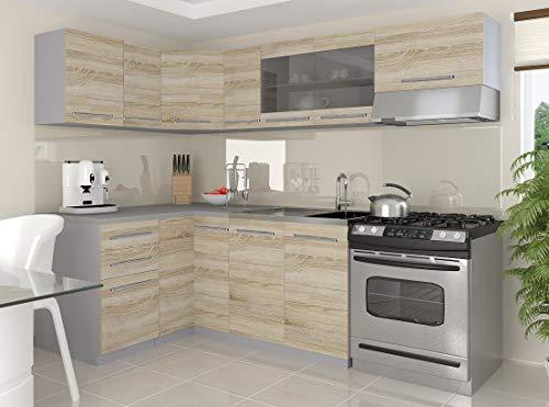 Tarraco Comercial - Mobile da cucina completo Lidia Sonoma 360 cm